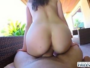 Bikini girl Kasey fucked in POV style
