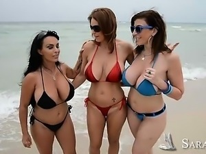 Charlee Chase and Holly Halston and Sara Jay