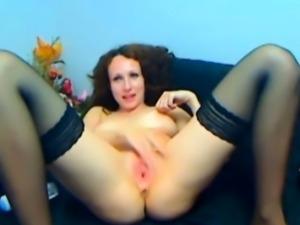 Hot Pink Pussy Dildo Masturbation