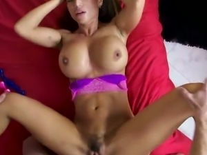 Bosomy Franceska Jaimes hairy pussy got screwed