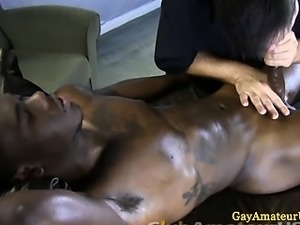 Straight dude gets dick tugged and a bj
