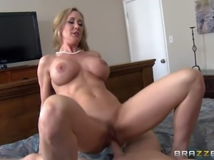Gorgeous mature beauty Brandi Love with massive tits is his dangerously sexy...