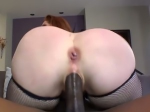 Redhead mylie moore sucks black dong