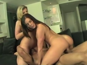 Kendra lust ridding cock and sara jay face-sitting
