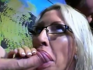 Wild milf sperm eater