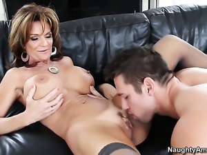 Deauxma with round butt and her hot bang buddy Johnny Castle are in the mood...