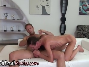 Skinny girl rammed in the ass hard and rough by Rocco Siffredi