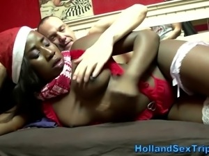 Black dutch hooker sucks and fucks tourist for cash