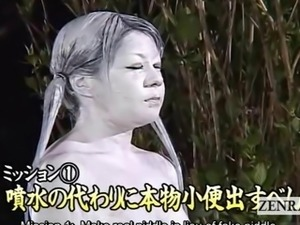 Subtitled Japanese public park statue fountain prank