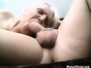 They strethes their old pussy lips for big cock
