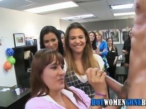 Real cfnm sluts suck strippers dicks at interracial party