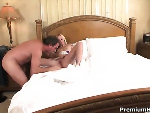 Faye Runaway gets her throat stuffed full of sausage in blowjob action with...