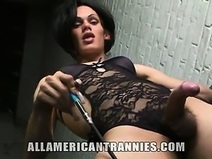This gorgeous twenty-five year old American tranny is Foxi