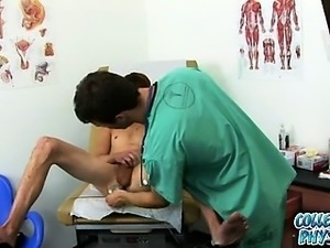 Cute college boy gets molested by the doctor.