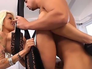 Sex bomb is thrown in Roccos way and he handles it like Rambo does with his...
