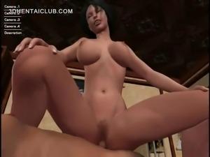 Brunette naked hentai girl fucking loaded shaft