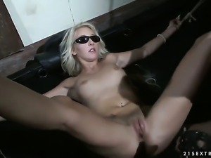 Blonde Valerie Follass takes anal sex to the whole new level