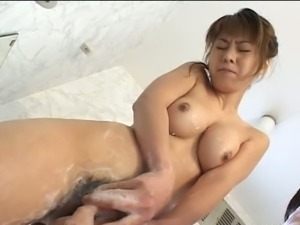 Japanese Marin Asaoka bathroom fuck