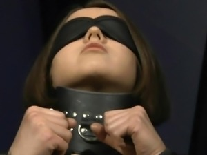 Submissive body of slave girl used as sex toy!
