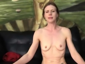 Skinny cock eater is abused