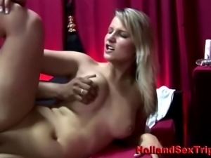 Real paid dutch whore takes cumshot after fucking amateur client