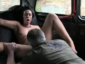Slut fucked by pervert stranger for free exchange for fare