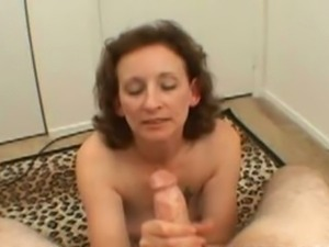 Drunk amateur mature strokes cock