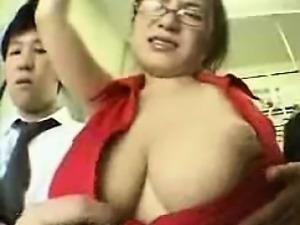Big Tit Train Abuse
