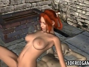 Boner inducing 3D cartoon redhead hottie getting her wet pussy pounded hard...