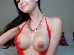 Nice Ass Busty Babe Strips and Masturbates