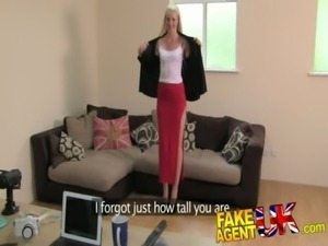 FakeAgentUK 2nd dose of blowjobs, rimming and fucking for Tall dirty blonde free