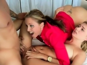 Two Blonde Chicks Julia And Natalia In A Hot Threesome