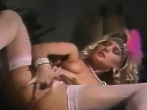 Blonde Woman Masturbating