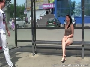 Casual Teen Sex - From bus stop to bed free