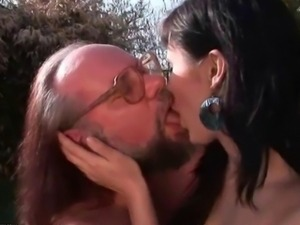 Grandpas and Teen Brunettes Compilation