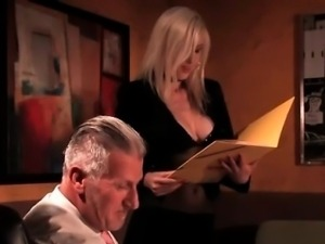 Nasty blonde gets horny with an awesome part1