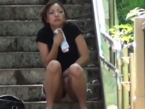 Asians pissed on panties
