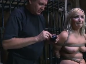 Hard Tied: Blonde Teen Tied Up and Fucked Hard