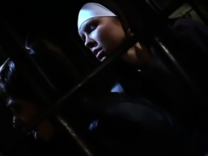 Busty lezdom nuns nipples tugged