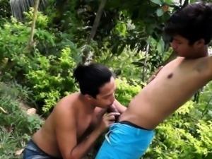 Ethnic gay twinks bj and barebacking fun