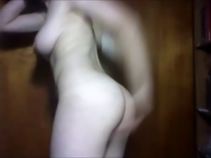 Christen 18 yo insert toy in her ass. from chatroulette.