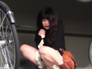 Asian hos caught pissing