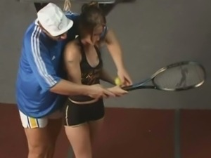 Dutch babe fucking after tennis training
