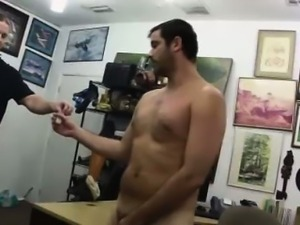 Straight amateur dude wanks in pawn shop