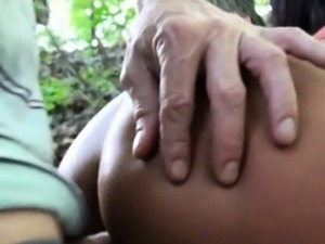 Smiling Czech girl Maria  flashes tits and fucked for cash