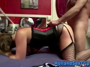 European whore gets cumshot