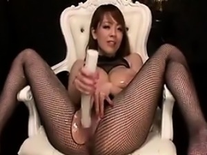 Japanese Slut With Massive Tits Masturbates