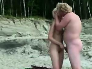 Public Swinger sex on the Nude Beach