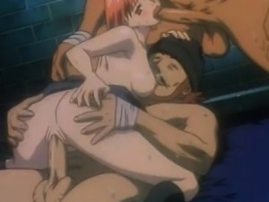 HENTAI chick banged from both sides