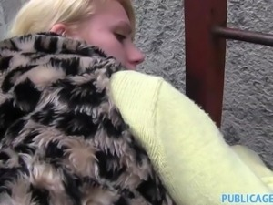 PublicAgent - Young blonde taken into woods